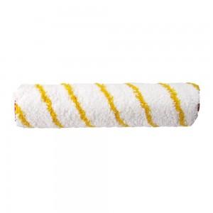 10010S| Aquarelle ролка за валяк, ø48, полиамид, бял/жълти ивици, къс косъм 12 мм - ширина 25 см
